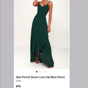 Lulu Green Maxi dress